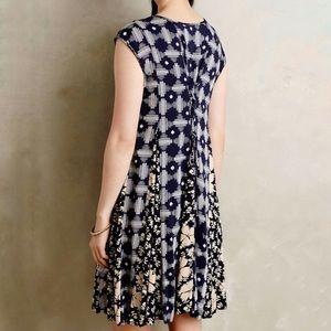 Anthropologie Maeve Indiga Ikat Floral Dress